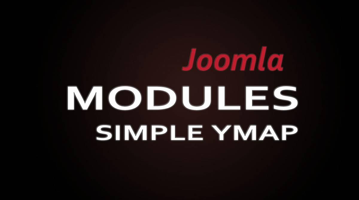 Joomla модуль Simple Ymap